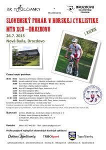 PLAGÁT MTB XCO - DROZDOVO 2015